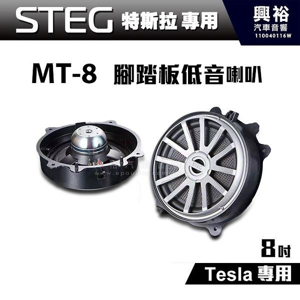 【STEG】Tesla特斯拉專用 8吋腳踏板低音喇叭MT-8(左右一支) *公司貨
