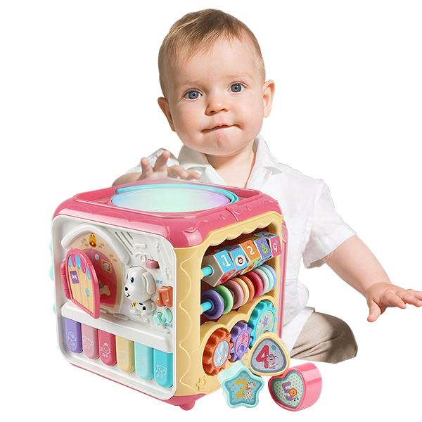 兒童音樂燈光玩具 多功能手敲琴六面屋-JoyBaby