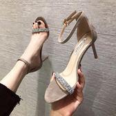 高跟鞋 百搭一字帶高跟涼鞋女細跟仙女風網紅ins潮超火夏季女鞋 曼慕衣櫃