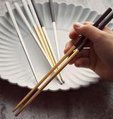 食品級304不銹鋼筷子 北歐方形防滑防燙高檔筷子 一雙裝家用餐具  百搭潮品