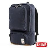 CHUMS 日本 帆布 多功能 後背包 深藍 CH602136N001