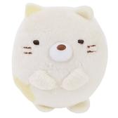 〔小禮堂〕角落生物 貓咪 迷你絨毛玩偶娃娃胸針《米》造型別針.胸章 4549479-03752
