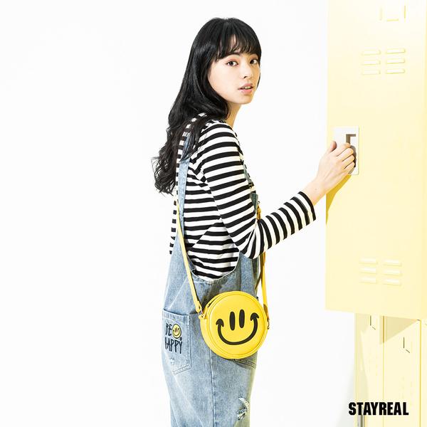 STAYREAL BE HAPPY 陽光笑臉側背包