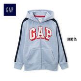 Gap男童 Gap Logo基本款圖案連帽休閒上衣 936605-淺藍色