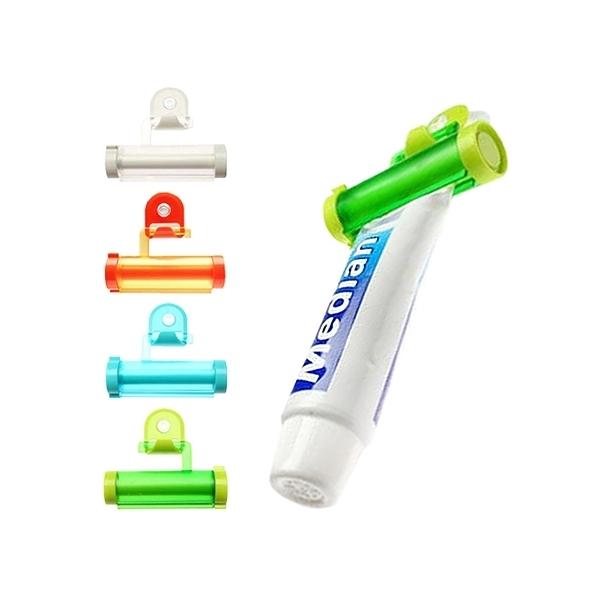 可吊式便利擠牙膏器(1入) 顏色隨機出貨【小三美日】