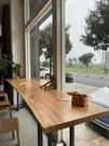 吧台桌 實木吧台桌家用陽台靠墻窄桌子長條桌奶茶店酒吧高腳桌椅組合商用【八折搶購】