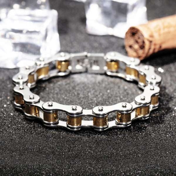 『Z.MO鈦鋼屋』白鋼手鍊/單車鍊造型款式/中性手環/復古手鍊/男性禮物推薦單件價【CKS3136】