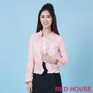 RED HOUSE-蕾赫斯-荷葉邊閃亮外套(共二色)