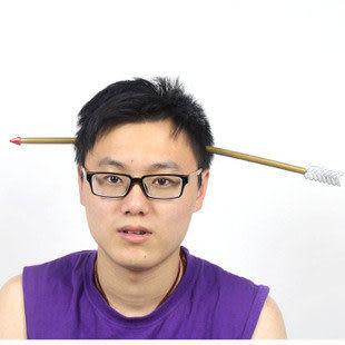萬聖節遊戲表演用品整人恐怖-塑料道具穿頭刀 箭 釘子3款