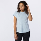 New Balance 女裝 短袖 慢跑 ICEX 透氣 輕量 反光LOGO 藍【運動世界】AWT11278UVG