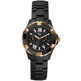 Gc 羅馬舞曲魅力陶瓷時尚腕錶-黑金-X69004L2S