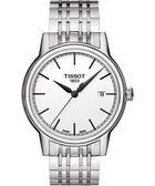 TISSOT 天梭 Carson 經典石英手錶-白 T0854101101100