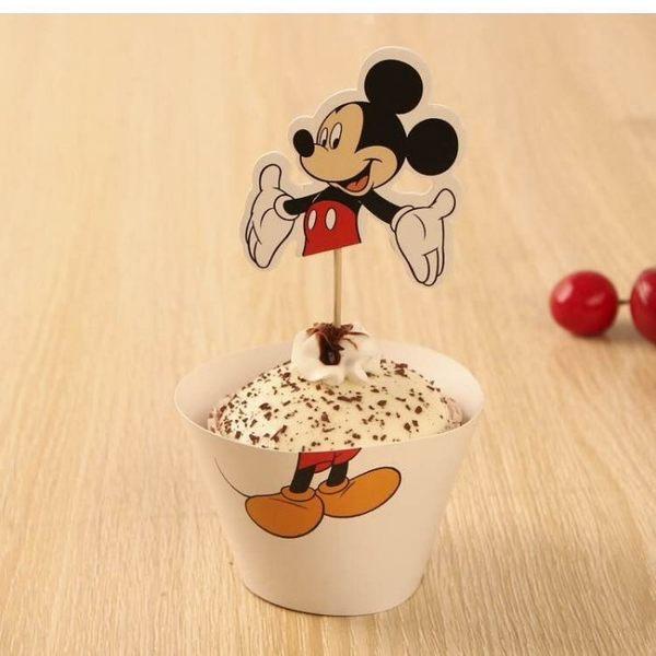 【發現。好貨】烘焙包裝紙杯蛋糕 蛋糕裝飾 插牌圍邊+插牌裝飾 派對用品【立體米奇】