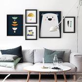 北歐客廳沙發背景裝飾畫臥室壁畫現代簡約風格掛畫玄關餐廳牆畫CY 後街五號