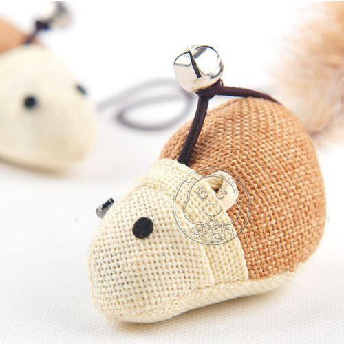 【培菓平價寵物網 】木杆麻老鼠逗猫棒40CM隨機出貨