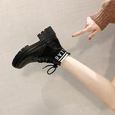 馬丁靴女秋季靴子2020秋新款透氣英倫風百搭ins網紅瘦瘦短靴單靴