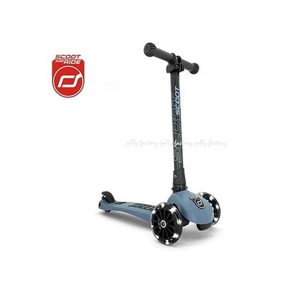 奧地利 Scoot&Ride Cool 飛哥滑板車 Kick3炫輪滑板車-岩石藍[衛立兒生活館]