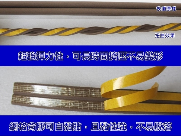 E型隔音條 4X18mm(背膠-50米團購價)雙條式防撞條 E型氣密條 山型防震條 消音條 E型條