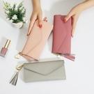 零錢包 錢包女長款2018新款韓版簡約個性零錢卡包多功能手拿超薄軟皮錢夾