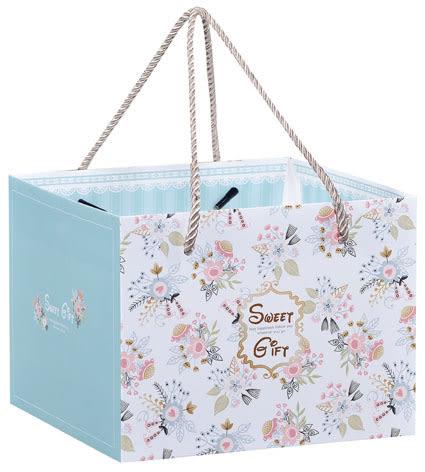 21CM 甜蜜禮物 平放袋 紙盒 禮盒袋 乳酪盒袋 購物袋 外賣袋 手提袋 蛋糕袋 包裝袋D053