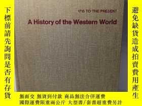二手書博民逛書店1715罕見TO THE PRESENT A HISTORY OF THE WESTERN WORLD II(SE