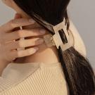 Queen Shop【07090286】琥珀感混色氣質鯊魚髮夾 兩色售*現+預*