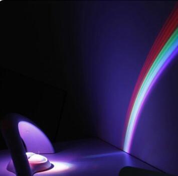 星空投影燈 夢幻少女心星空小夜燈光投影彩虹小紫燈紫色變色拍照【快速出貨八折下殺】