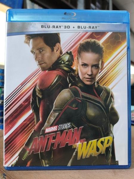 挖寶二手片-0452--正版藍光BD【蟻人與黃蜂女 3D+2D雙碟版】熱門電影 MARVEL(直購價)