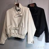 短款皮衣外套女士新款韓版寬鬆bf風機車PU顯瘦百搭皮夾克外套 千惠衣屋