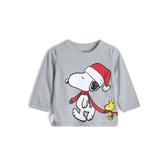 Gap男幼童 棉質舒適圓領套頭T恤532824-亮麻灰色
