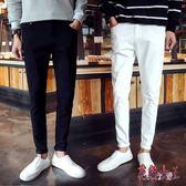 新款男士牛仔褲27-36中大尺碼褲子修身韓版潮流學生小腳褲男牛仔長褲 BT3533【花貓女王】