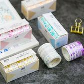 【BlueCat】語閒燙金圖騰系列和紙膠帶 手帳貼紙 (10入)