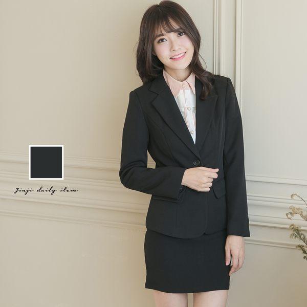 OL上班學生制服專題 女生兩釦黑色面試套裝【Sebiro西米羅男女套裝制服】065008829