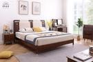 【新竹清祥傢俱】NBB-55BB04-北歐輕奢六尺床架(有含靠墊) 雙人加大 全實木 臥室 queen size 床框