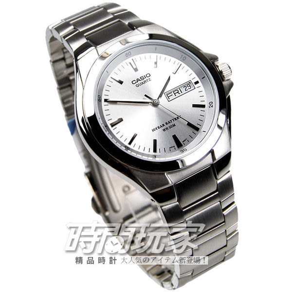 CASIO卡西歐MTP-1228D-7A指針錶 不銹鋼 白面 37mm 時間玩家 男錶 復古復刻 MTP-1228D-7AVDF