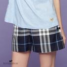 兩側小緞帶蝴蝶結裝飾格紋短褲【AF2205】