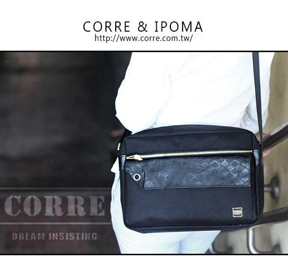 CORRE【PR001】經典斜背包 黑/藍兩色