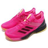 adidas 網球鞋 Adizero Ubersonic 3 W 粉紅 黑 輕量 襪套式 運動鞋 女鞋【PUMP306】 AH2136