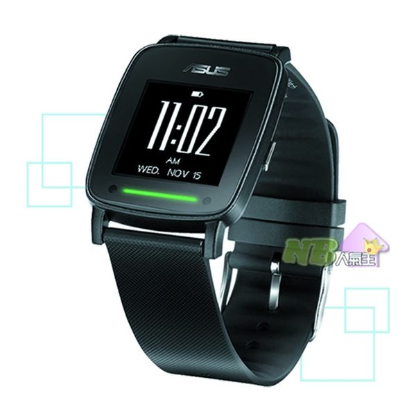 ASUS VivoWatch 心跳偵測智慧錶 (無悠遊卡錶帶黑框版) 智慧手錶 運動手環 運動手錶