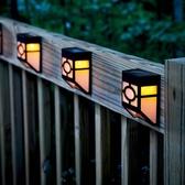太陽能戶外花園別墅庭院裝飾燈家用鄉村院子圍墻大門門頭門柱壁燈