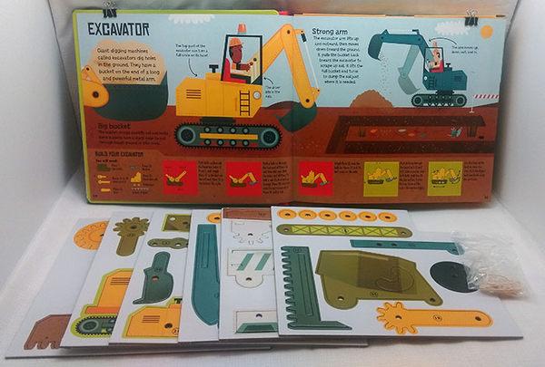 【我的工程車】BUILDING MACHINES / 內含50個零件. 建造9種工程車