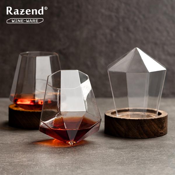 創意不倒翁紅酒杯 水晶手工酒杯洋酒杯白葡萄酒杯威士忌杯高腳杯 聖誕 交換禮物 尾牙  韓慕精品