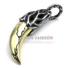 《 QBOX 》FASHION 飾品【W10022352】精緻個性雙色狼牙鑄造316L鈦鋼墬子項鍊