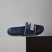 PUMA Leadcat Ftr 4 男女款 藍色 休閒 經典 拖鞋 372276-05