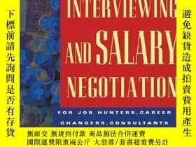 二手書博民逛書店Interviewing罕見and Salary Negotia