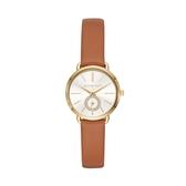 MICHAEL KORS優雅設計真皮腕錶/MK2734