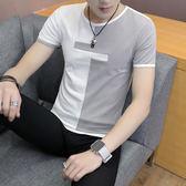 【雙11】新款男士短袖t恤純棉?半袖個性正韓潮流夏季男裝修身上衣服折300