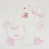 【愛的世界】純棉長袖兩用嬰衣禮盒/3~6個月-台灣製- ★禮盒推薦