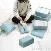 納彩旅行收納袋套裝行李箱衣服收納整理袋旅游鞋子衣物內衣收納包 創意家居生活館