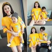 親子裝 兒童親子裝夏裝韓版全家裝母女裝母子洋氣一家三口四口短袖t恤潮